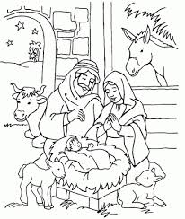 coloring pages of jesus birth story christmas bible throughout