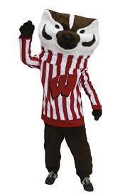 mascot costumes for halloween bucky badger mascot costume character size cartoon prop