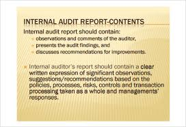 15 internal audit report templates free sample example format