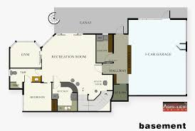 3 Bedroom House Plans With Basement Basement Floor Plans Finished Basement Floor Plans Finished