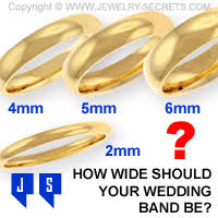 the secrets wedding band how wide should your wedding band be jewelry secrets