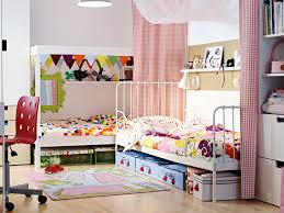 Double Bed Furniture For Kids Ideas Nice Blur Red Double Ikea Kids Room Wardrobe Storage