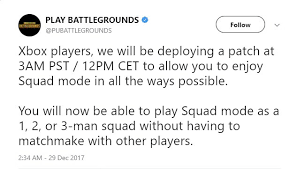 pubg 1 man squad new pubg patch for xbox to allow squads of any size gamer