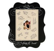 wedding signing frame signature frames wedding canvas
