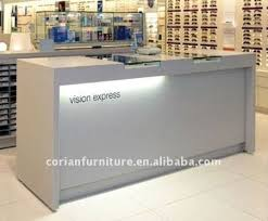 Retail Reception Desk Acrylic Solid Surface Covered Modern Office Reception Desk Rt 2061