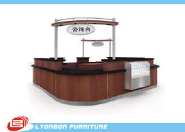 Reclaimed Wood Reception Desk Shopping Mall Mdf Reclaimed Wood Reception Desk Laminated