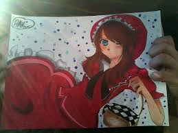 red riding hood copic drawing ashiterujapan777