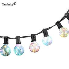 copper globe string lights tanbaby g40 globe bulb copper wire led string lights for new year