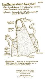 the chatterbox apron pattern