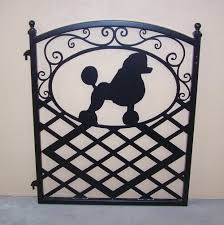 fence gate ornamental iron poodle silhouette modern iron works