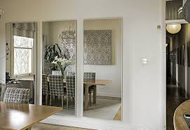 large wall mirror for living room and dining room design ideas