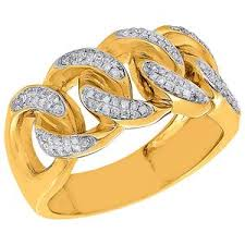 chain rings gold images Yellow gold diamond cuban link chain ring capital bling jewelry jpeg