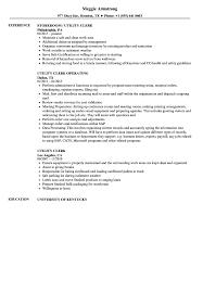 sle of resume utility clerk resume sles velvet