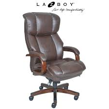 Executive Brown Leather Office Chairs La Z Boy Trafford Big And Tall Executive Office Chair Vino