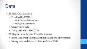 Estimate Flood Insurance Cost by Estimating The Social Benefits Of The National Flood Insurance Pr