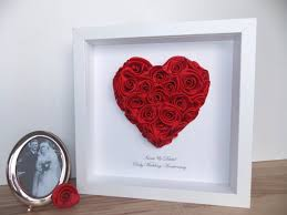 ruby gifts ruby wedding anniversary 3d framed picture by fromleoniwithlove