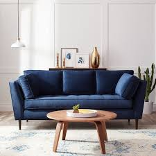 blue couch living room navy blue sofa living room style update earnest home co golfocd com
