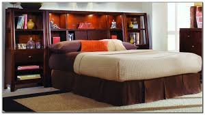 Ideas For Headboards by Headboard Storage Design Ideas Black Wooden Storage Bed With Full