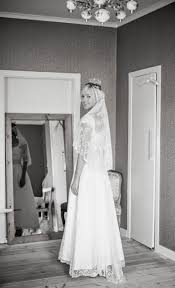 martina in vintage lace wedding dress and traditional swedish