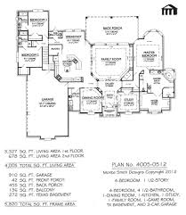 Small Home Plans With Basement by 4 Bedroom House Plans With Basement