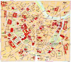 Map Of Europe Capitals by Vienna Map Tourist Attractions My Trip To Vienna Pinterest