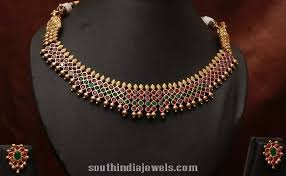 antique emerald necklace images 1 gram gold antique ruby emerald necklace south india jewels jpg