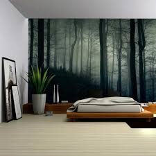 amazon com wall26 a dark and misty forest wall mural