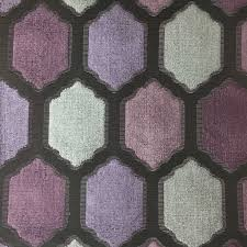 Pink Home Decor Fabric Seymour Honeycomb Pattern Cut Velvet Upholstery Fabric By The Yard