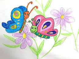 painting animals for kids how to draw a beautiful butterfly on