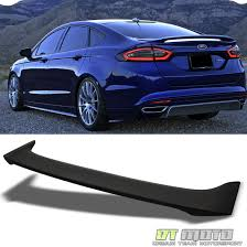 2013 ford fusion spoiler matte black 2013 2017 ford fusion 4dr factory style rear trunk abs