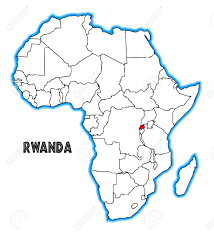 Rwanda Map Rwanda Outline Inset Into A Map Of Africa Over A White Background