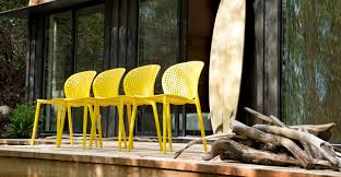 Dot Patio Furniture by Yellow Outdoor Dining Chair Article Dot Modern Outdoor Furniture