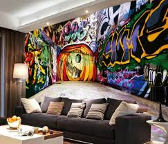 Bedroom Graffiti Interior Design Ideas - Graffiti bedroom