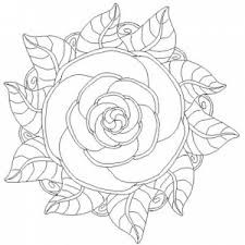 rose mandala coloring pages perfect acid etching
