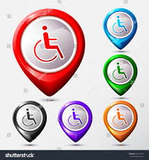 Map Location Set Map Location Disabled Icon Sign Stock Vector 226110571