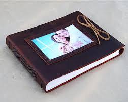 leather photo album personalized leather album etsy
