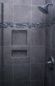 gray shower tile for a refined feel gray matters pinterest
