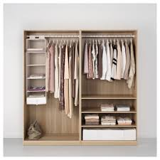 Ikea Pax Designer Pax Wardrobe White Stained Oak Effect Ilseng White Stained Oak