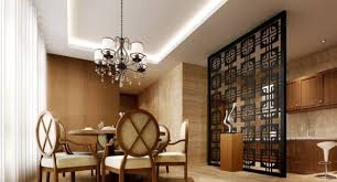 exciting glass wall partition with sticker carving design