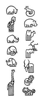tattoo animal line pictograms zoo peinture murale pinterest zoos behance and icons
