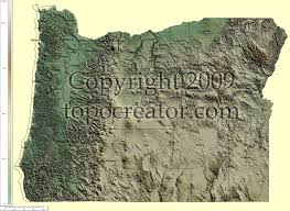 Oregon Topographic Map by Topocreator Create And Print Your Own Color Shaded Relief