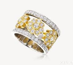 magnificent wide band diamond rings for women