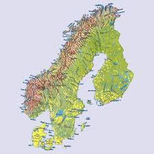 Scandinavia Blank Map index of medomys mapky prac