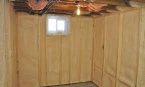 Spray Foam Insulation For Basement Walls by Basement Insulation Photo Gallery Enerliv