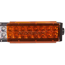 orange led light bar auxbeam 8 inch amber pc protective lens cover for led light bar