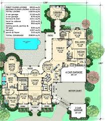Mansion Home Floor Plans Plan 66008we Tuscan Style Mansion Luxury Floor Luxury Estate Home