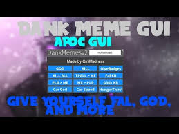 Meme Script - roblox hack script dank meme v2 gui level 7 needed like rc7