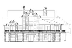 bungalow house plans colorado 30 541 associated designs craftsman house plan colorado 30 541 rear elevation