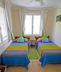Decorate Small Bedroom Two Single Beds Luxury Tobago Holiday Accommodation Chaconia Suite Black Rock