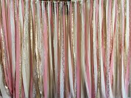 wedding backdrop name design sparkly gold white pink fabric garland kate spade shower